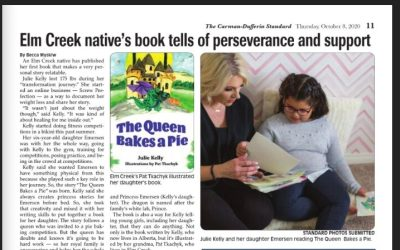 Newspaper Feature of 'The Queen Bakes a Pie'