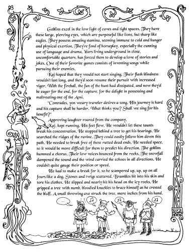 """fully illustrated page from the letter story """"Flightless"""" by David Borden"""