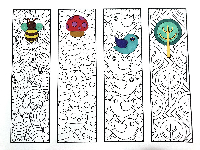 Ten Printable Bookmark Coloring
