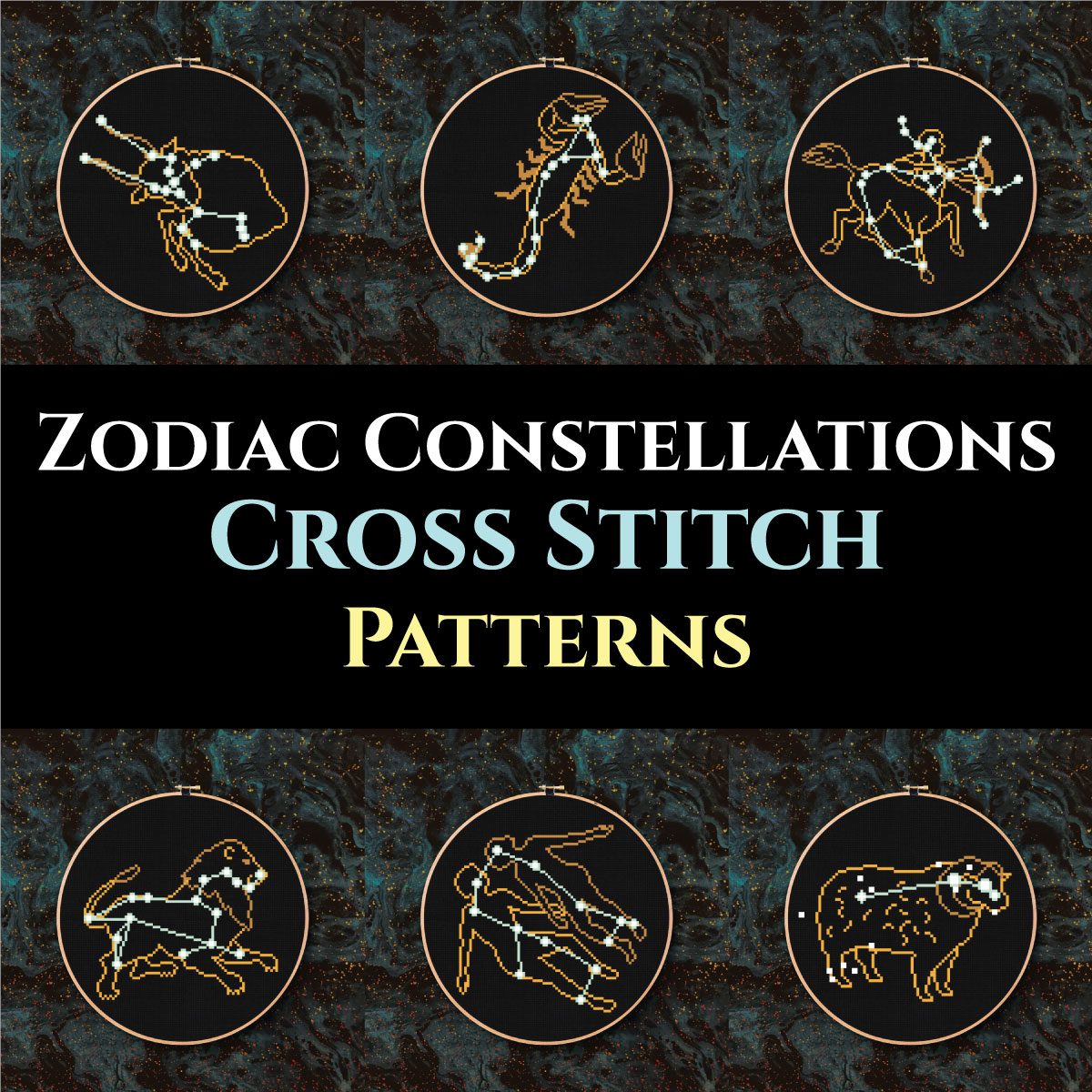 graphic about Printable Constellation Patterns identified as Zodiac Constellations Cross Sch 12 Amazing and Very simple