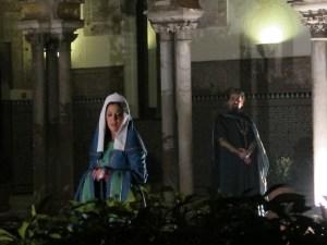 King Pedro and Maria de Padilla in the Patio de las Doncellas.