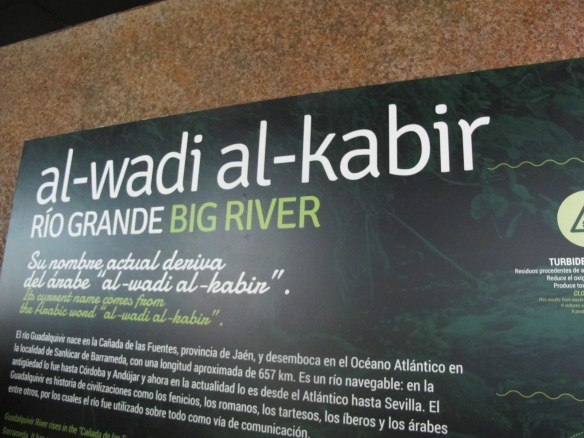 The Great River, Guadalquivir, starting point of Magellan's voyage - and for your journey through the aquarium's marine life.