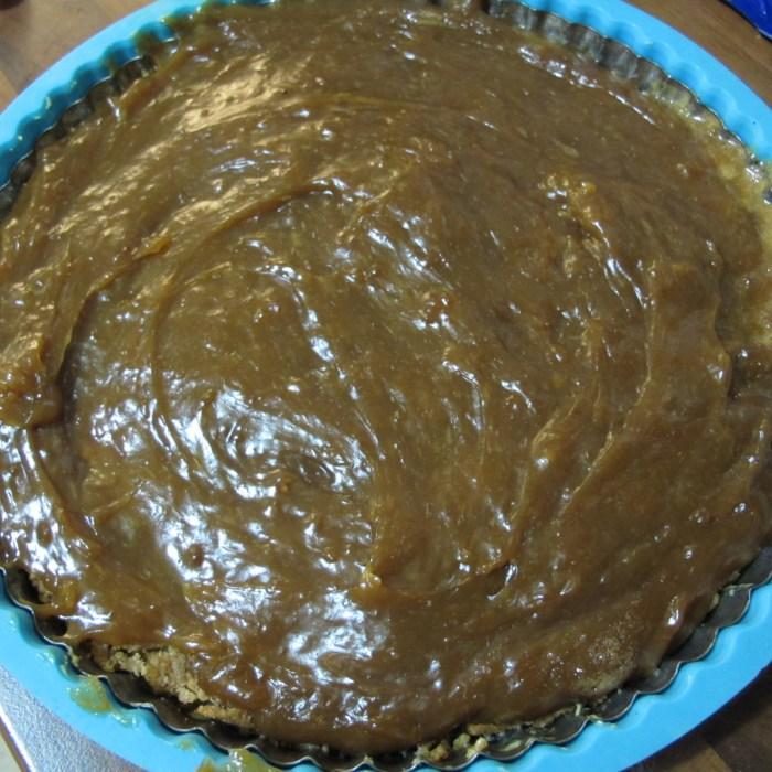 My Seville orange tart - biscuit base with curd-ish filling.