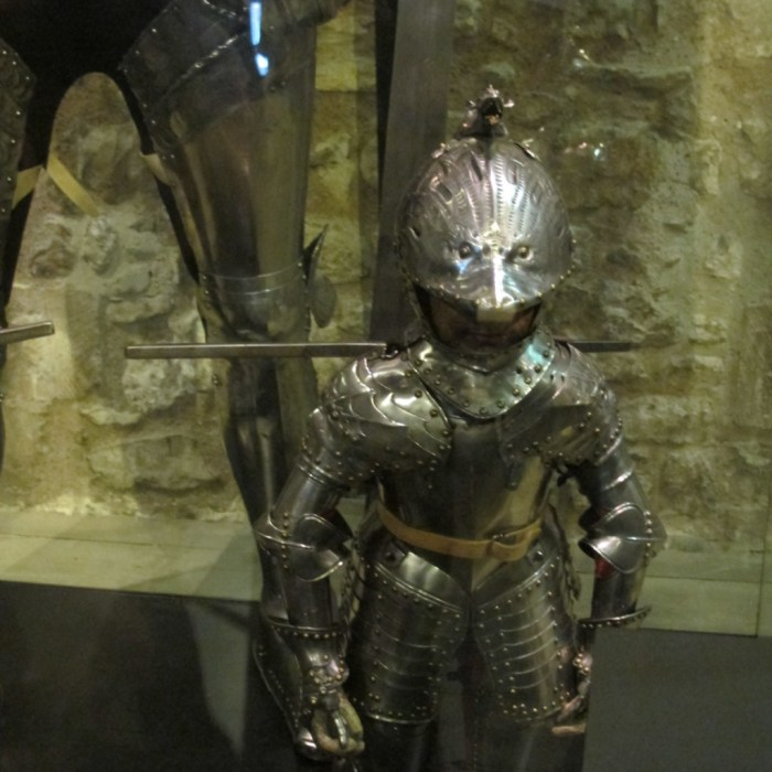 Armour for a child - the leg behind it gives you an idea of the scale.