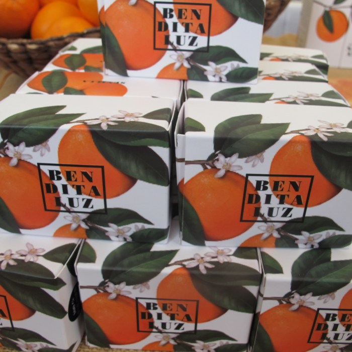 Bitter-orange-scented soaps.