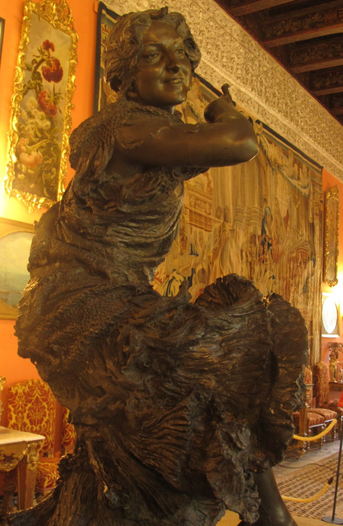 The statue of the gypsy woman in the room named for her.