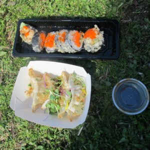 Japanese food, I won-call it sushi, at Callejeando Food Festival.