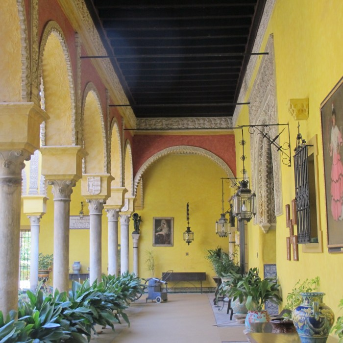 Elegant colonnade of the main patio.