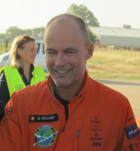 Piccard said the aim of the round-the-world journey was to inspire people and raise awareness about sustainable energy.