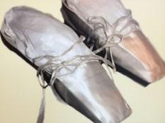 Delicate dancing slippers