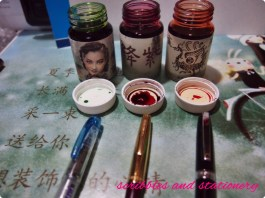 Cleaned out and am going to re-ink these 3 pens with these 3 inks