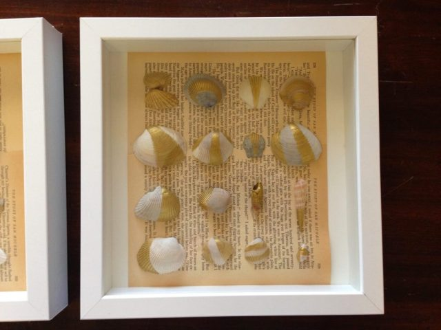 Easy Summer Craft Gold Painted Seashells Scribbles From