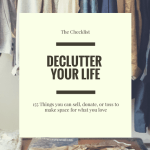 Declutter your life: 155 things