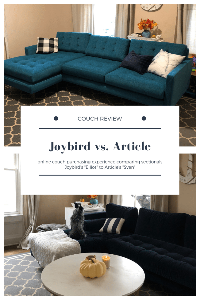 Joybird vs Article: Couch Review - Scribbles From Emily