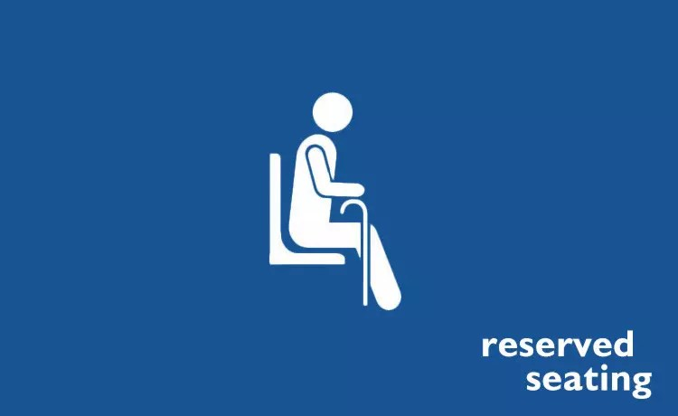 MRT Reserved Seating.