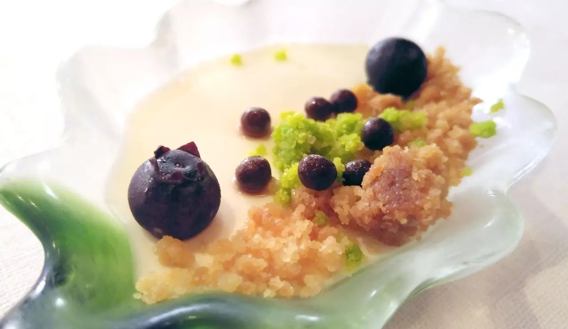 Vanilla panna cotta at Basilico Singapore