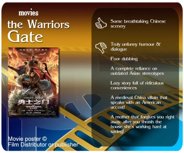 The Warriors Gate review. 1 thumbs up and 6 thumbs down.