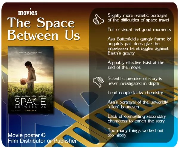 The Space Between Us review - 4 thumbs up and 5 thumbs down.