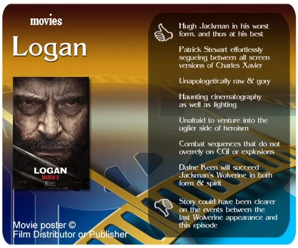 Gritty and unforgiving, yet also thoughtful and sentimental, Logan is the dark X-Men movie we have waited too long for.