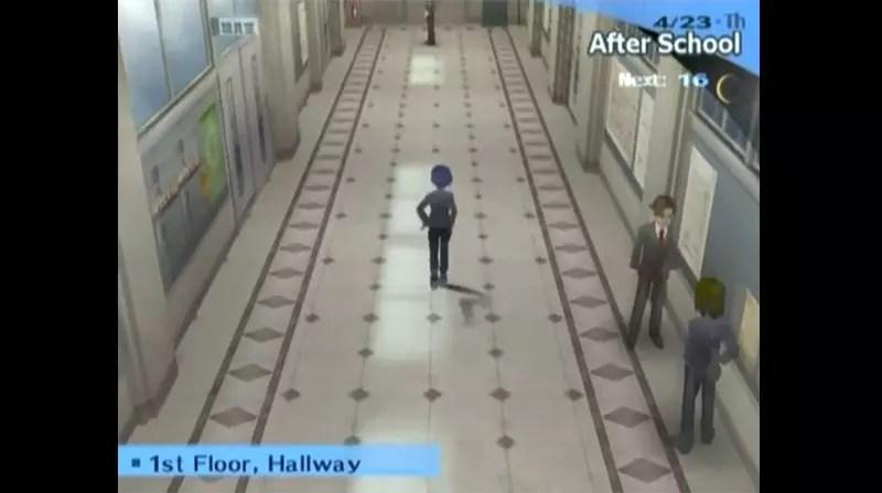 Persona 3 School Corridor Screenshot