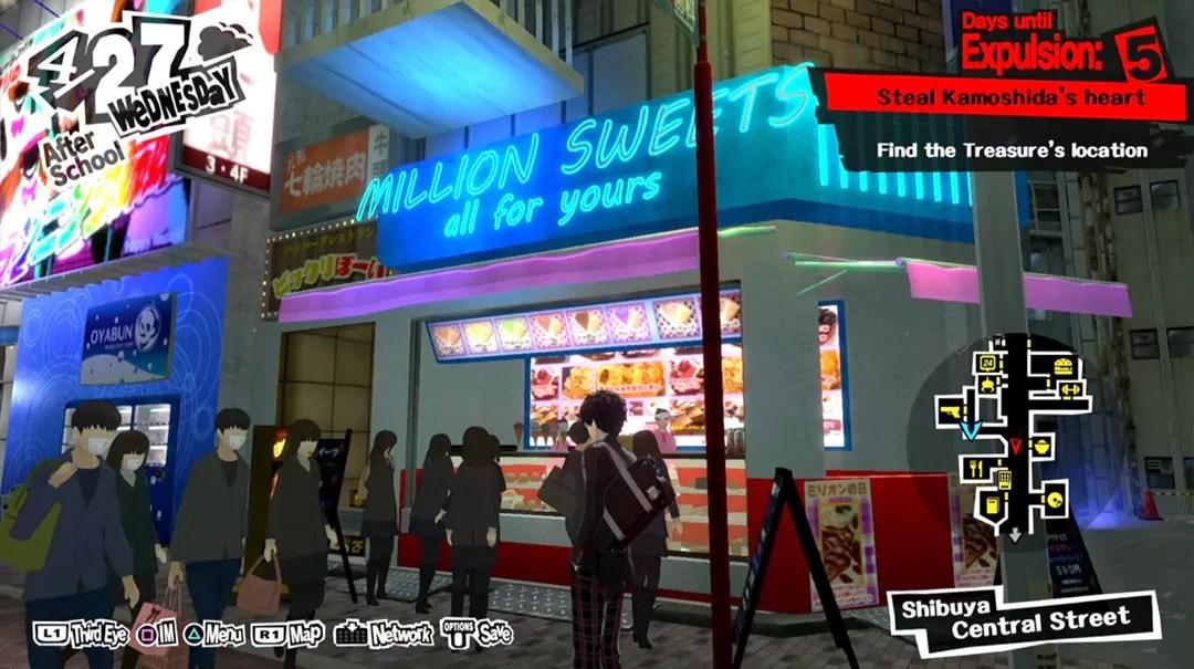 Persona 5 Shibuya Crepe Shop.