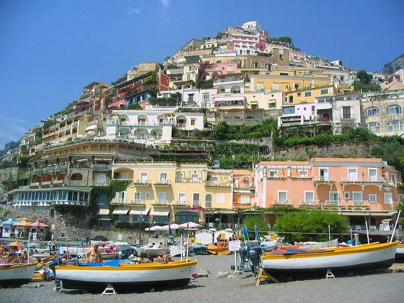 The Southern Italian commune of Positano. Famous worldwide for its distinct tiers of houses.