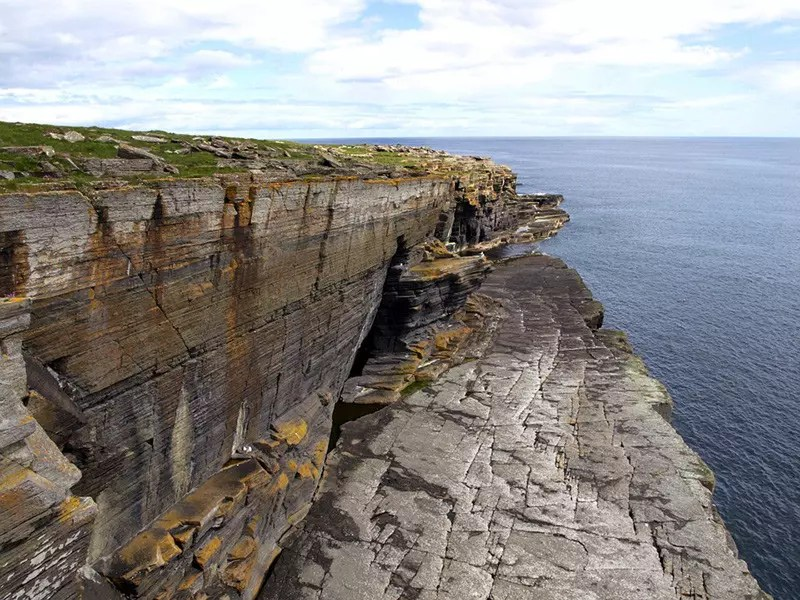North Sea Cliffs in Scotland.