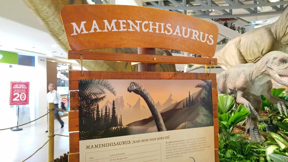 Rawr! Dinosaurs Unearthed informational panel.