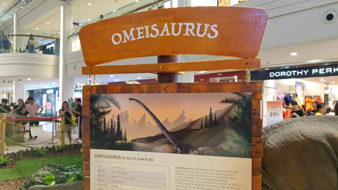Rawr! Dinosaurs Unearthed Omeisaurus Panel.