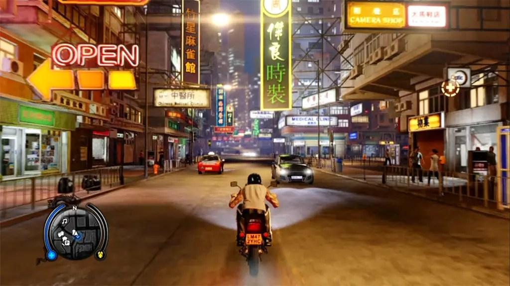 Sleeping Dogs North Point Night Driving Screenshot