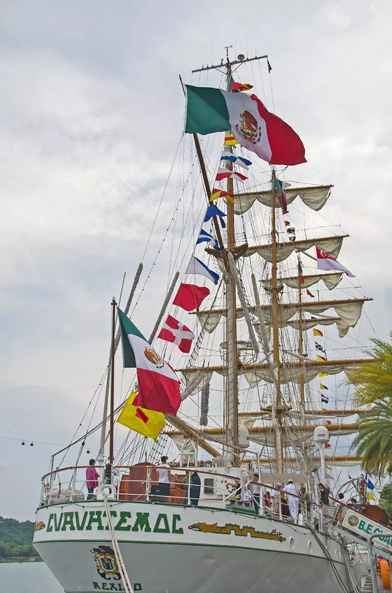 Stern of ARM Cuauhtémoc.