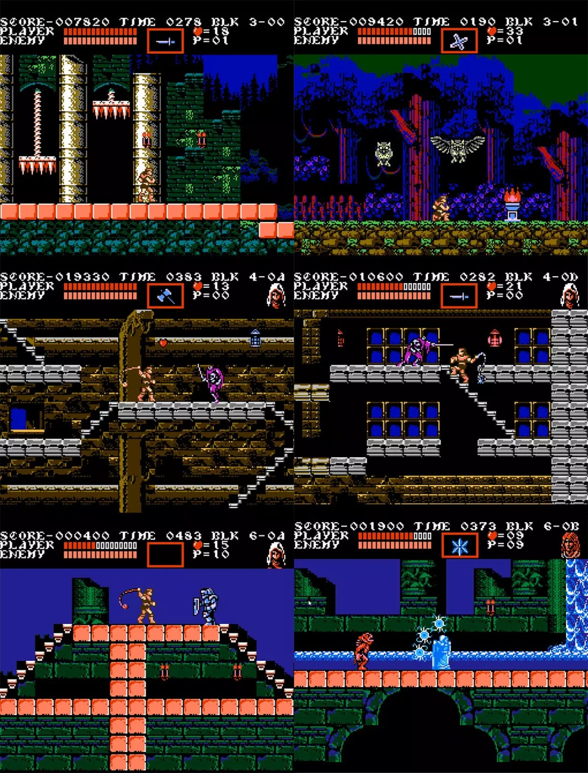 Castlevania III: Dracula's Curse Screenshots.