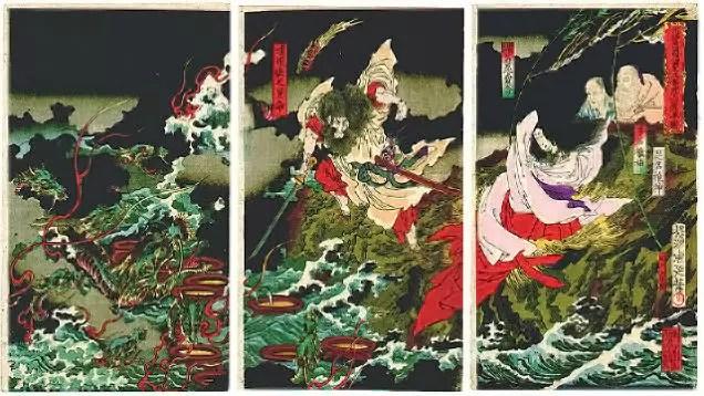 Storm God Susanoo and Orochi.
