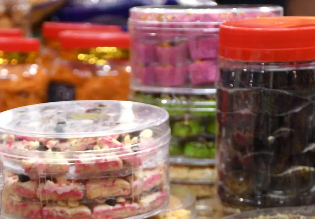 Snacks on sale at Little India Deepavali festive market 2017, Singapore.