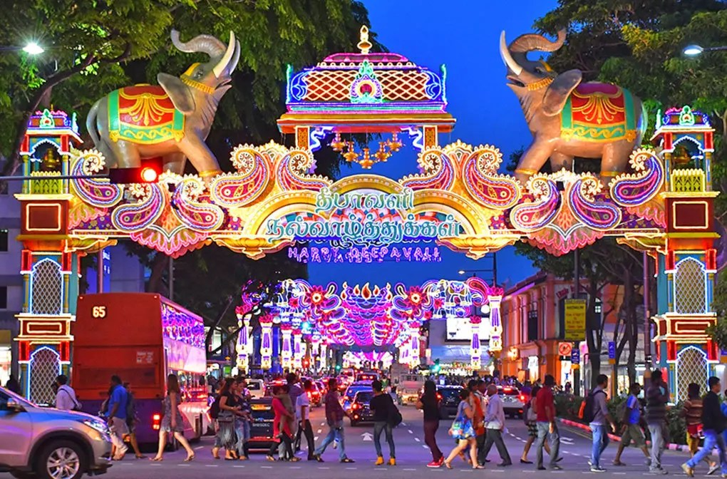 Singapore's Little India Deepavali Festive Light-Up 2017