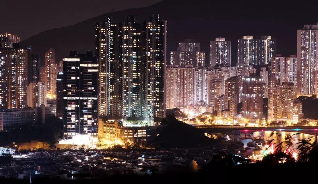 Night time Aberdeen, Hong Kong
