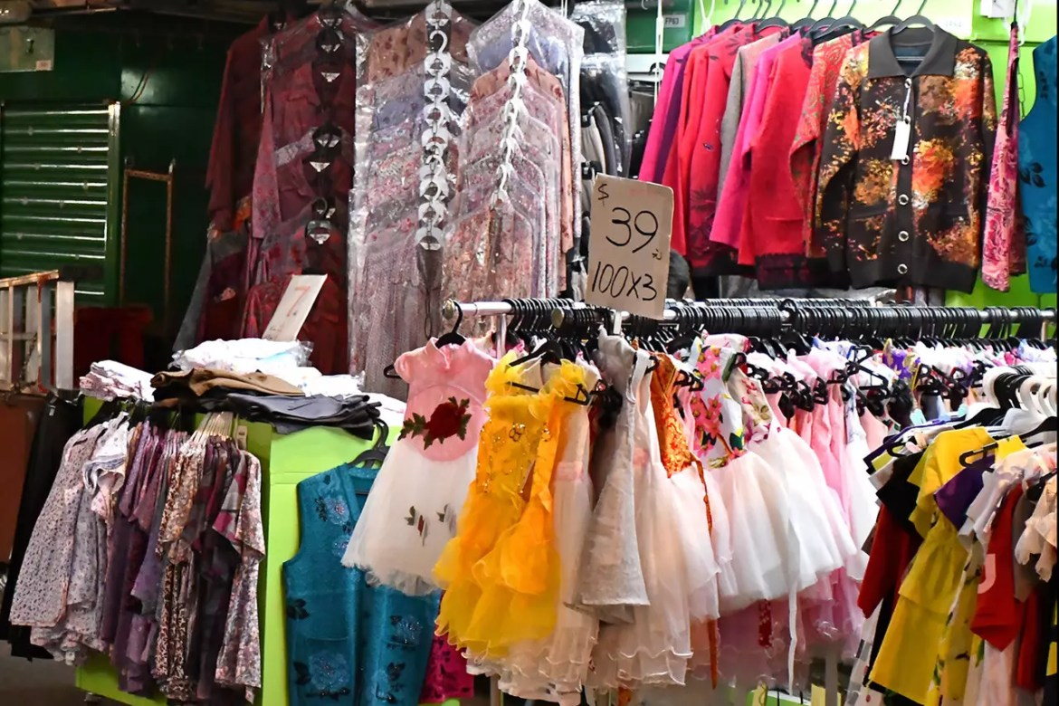 Clothing on sale at North Point Marble Road.