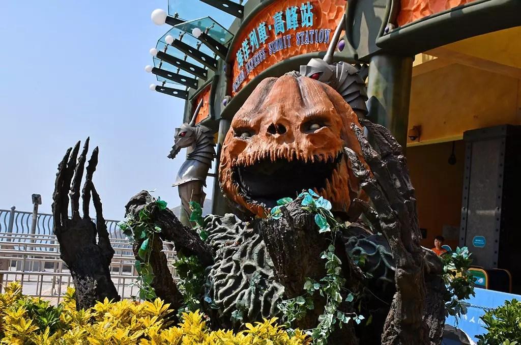 A Halloween adventure in Ocean Park Hong Kong.