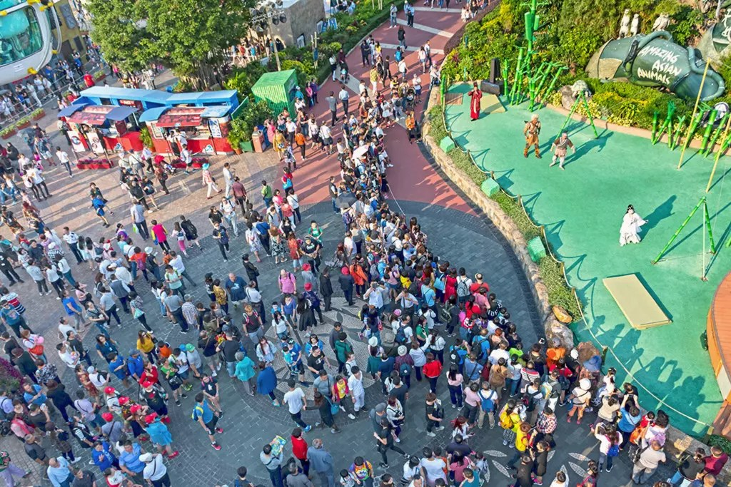 View from Ocean Park Cable Car.