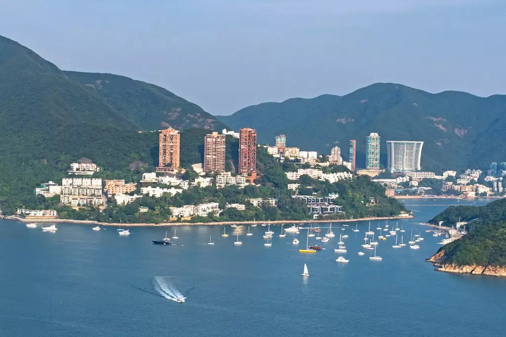 View of Repulse Bay from Ocean Park Cable Car.