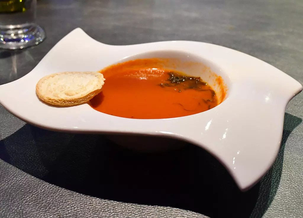 Saw Set Menu - Bell Pepper and Tomato Soup.