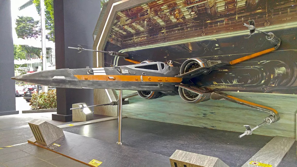 X-Wing Fighter at Orchard Road