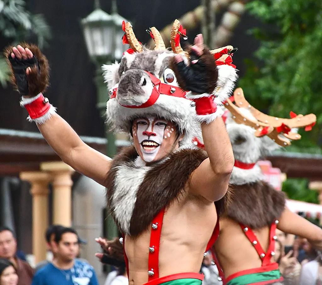Universal Studios Singapore Christmas Reindeers.