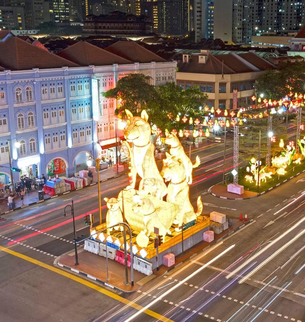 Chinatown Chinese New Year Light-up 2018 showpiece.