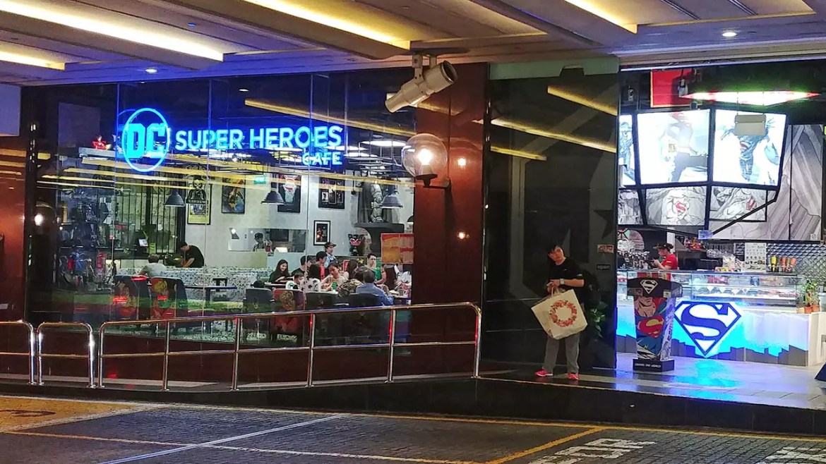 DC Super Heroes Cafe - Takashimaya Main Entrance