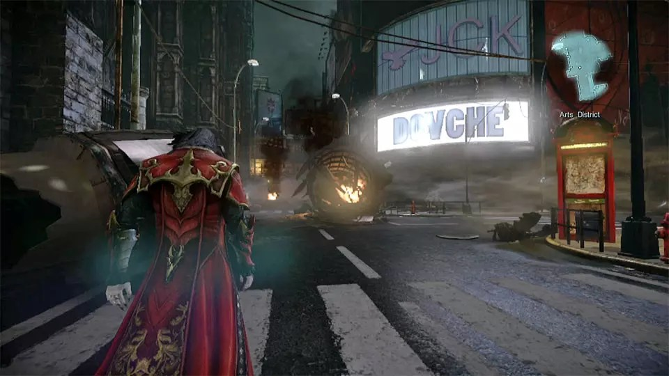 Arts District Screenshot from Konami's Castlevania: Lords of Shadow 2.