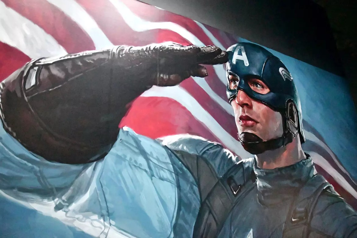 Captain America at Marvel Studios: Ten Years of Heroes Exhibition.