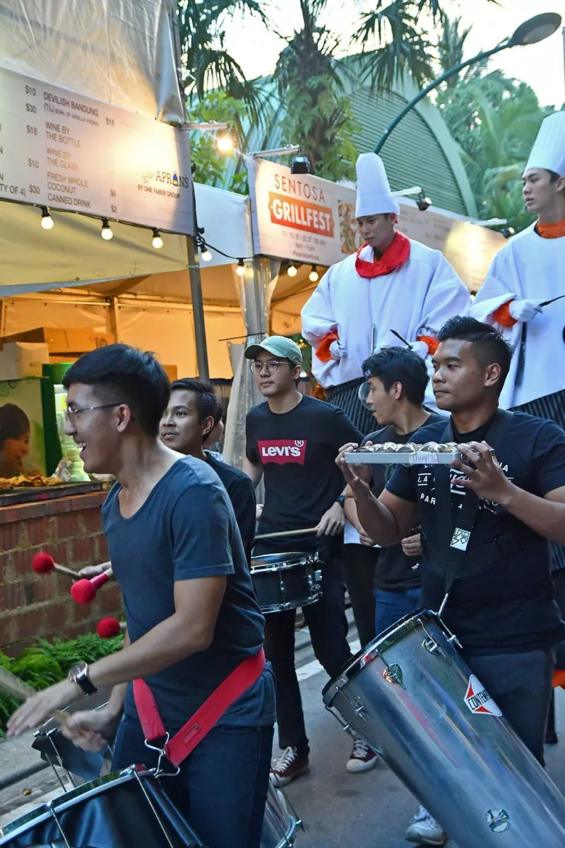 Sentosa GrillFest 2018 Percussion Band Performance.