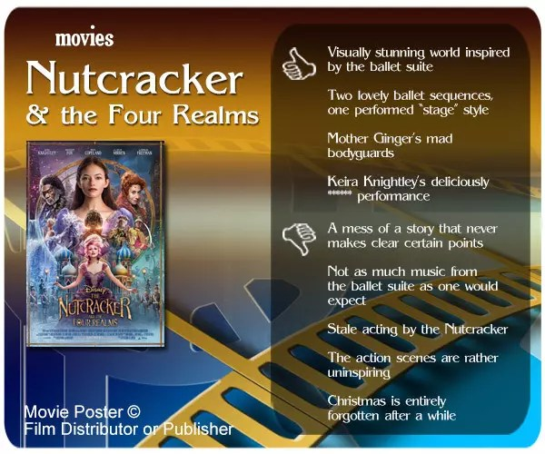 The Nutcracker and the Four Realms Movie Review: 4 thumbs up and 5 thumbs down.