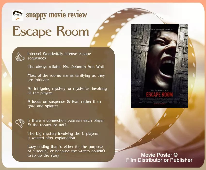 Escape Room Movie Review The Scribbling Geek